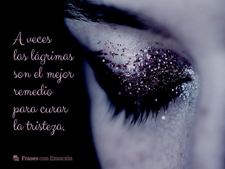 A veces las lágrimas...