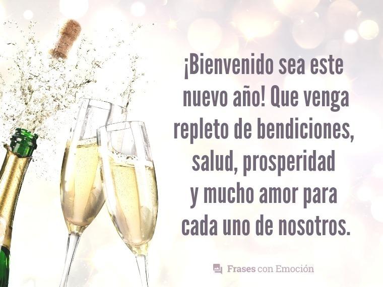 Bienvenido sea este nuevo año