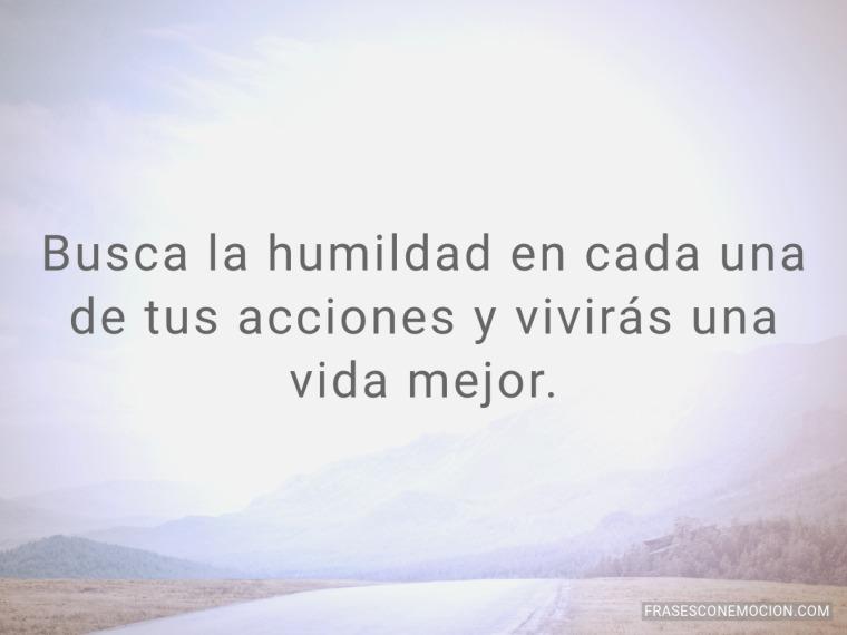 Busca la humildad en...