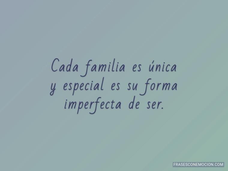 Cada familia...