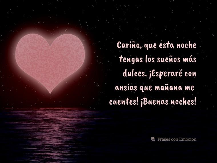 Buenas Noches Amor Frases Con Emoción