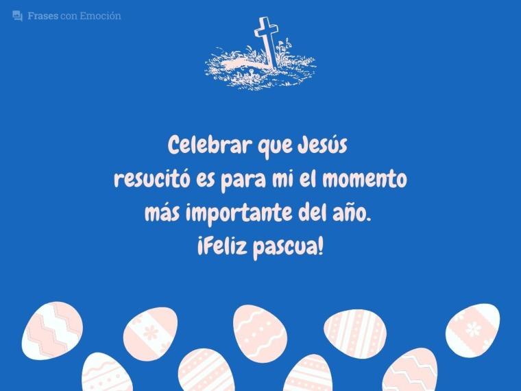 Celebrar que Jesús resucitó...
