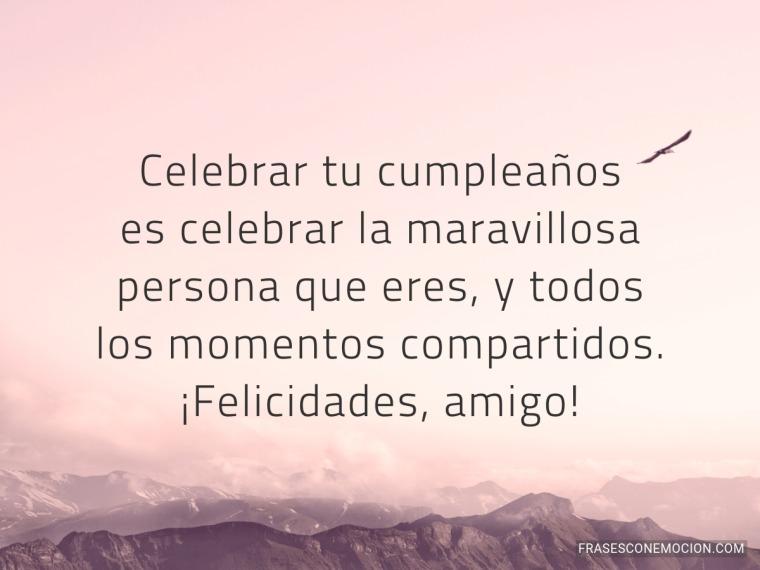 Celebrar tu cumpleaños...