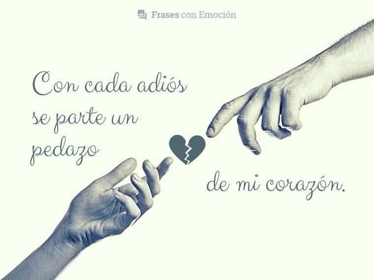 Con cada adiós...
