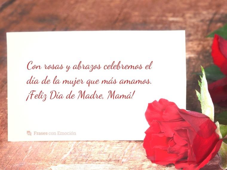 Con rosas y abrazos...