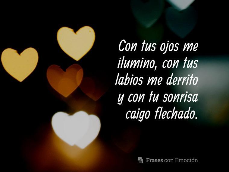 Con tus ojos me ilumino...