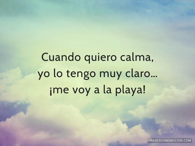 Cuando quiero calma...