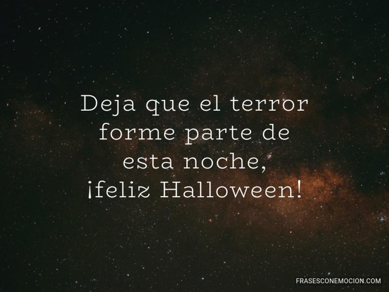 Deja que el terror...