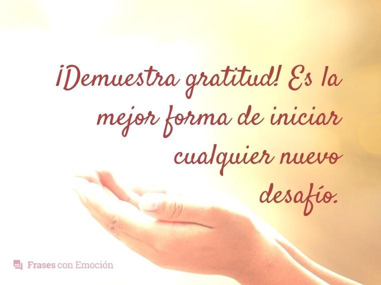 Demuestra gratitud...