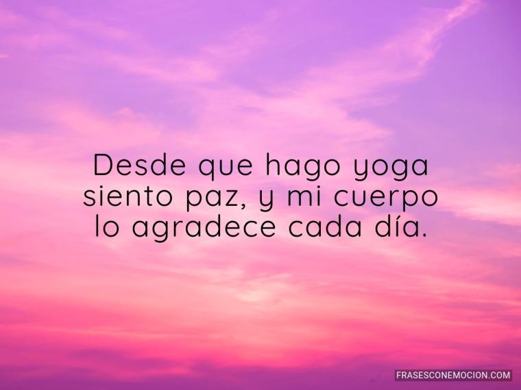 Desde que hago yoga...