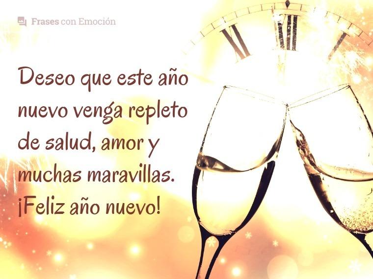Deseo que este año nuevo...