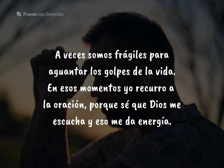 A veces somos frágiles...