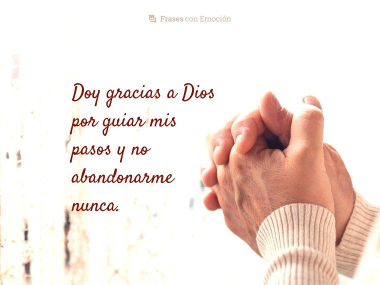 Doy gracias a Dios...