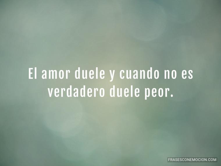 El amor duele...