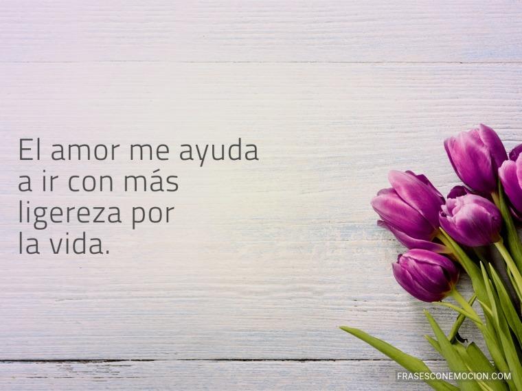 El amor me ayuda...