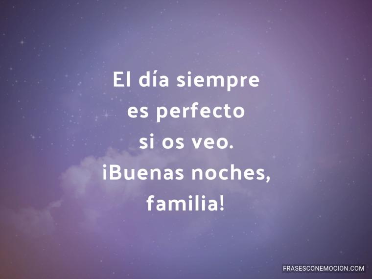 El día siempre es perfecto...