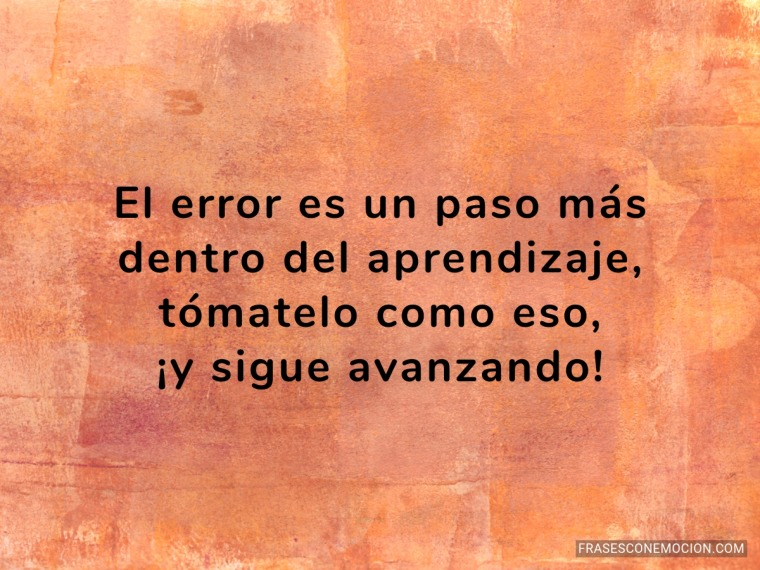 El error es un paso más...