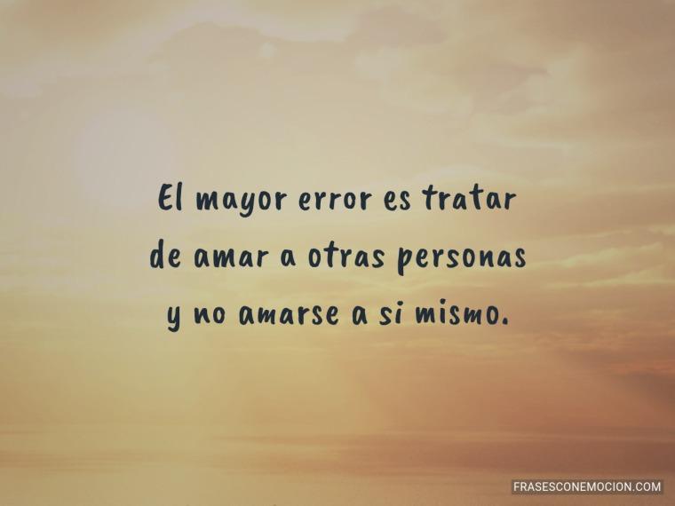 El mayor error...