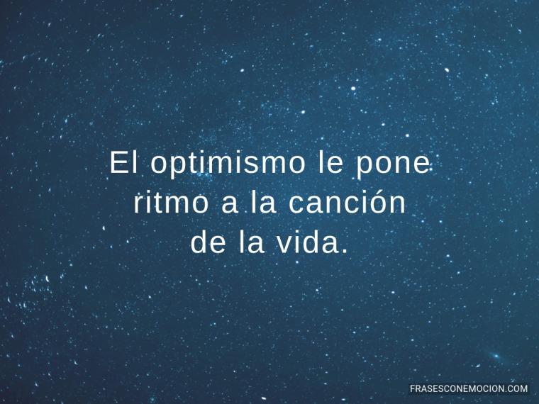 El optimismo le pone...