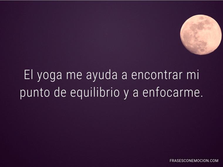 El yoga me ayuda...
