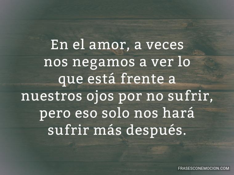 En el amor a veces...