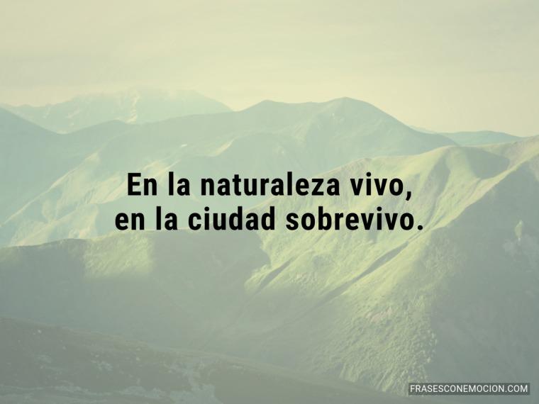 En la naturaleza vivo