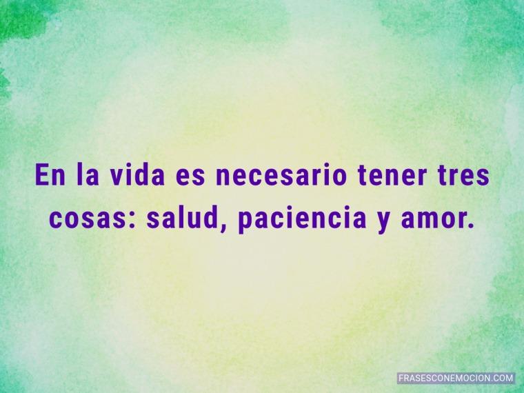 En la vida es necesario...