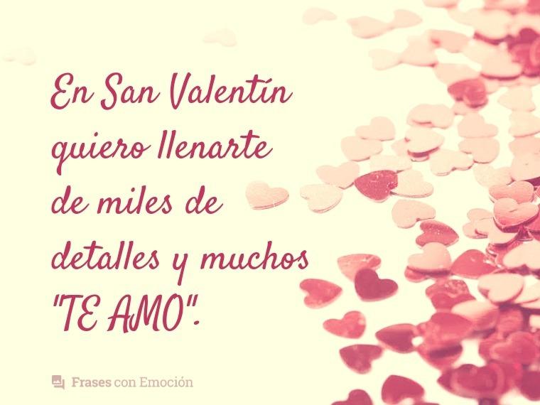 En San Valentín quiero...