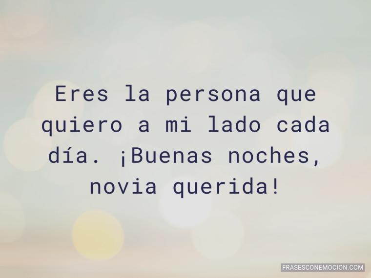 Eres la persona que quiero...