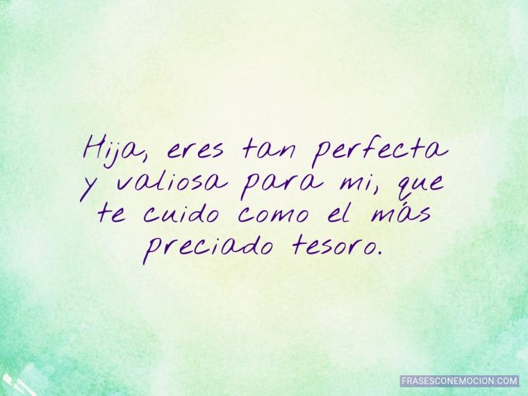Eres tan perfecta y valiosa...
