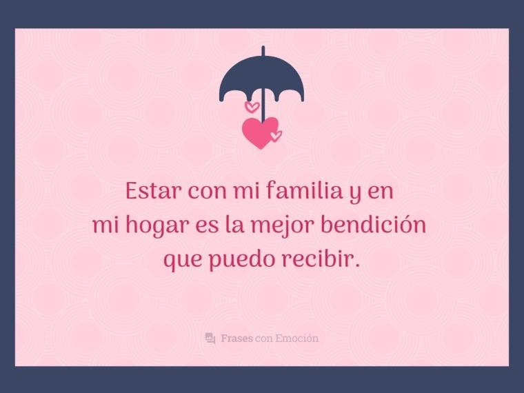 Estar con mi familia...