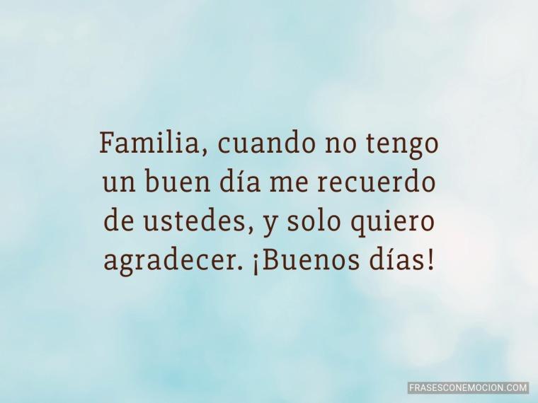 Familia, cuando no tengo...