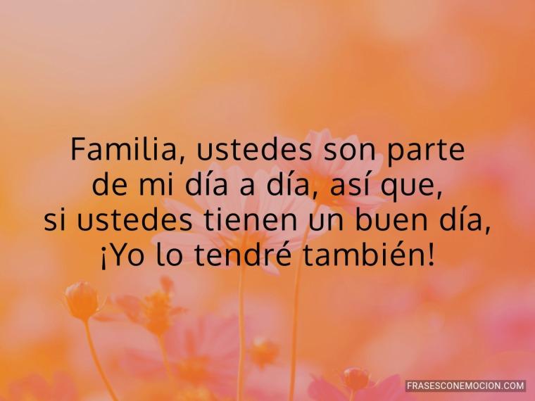 Familia, ustedes son...