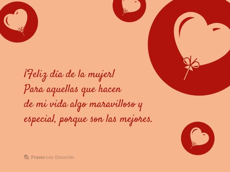 Frases Para El Día De La Mujer Frases Con Emoción