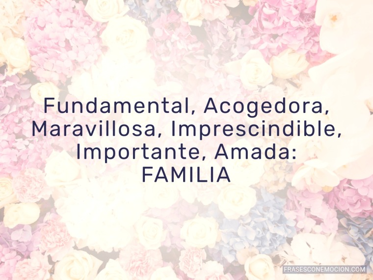 Fundamental, Acogedora...