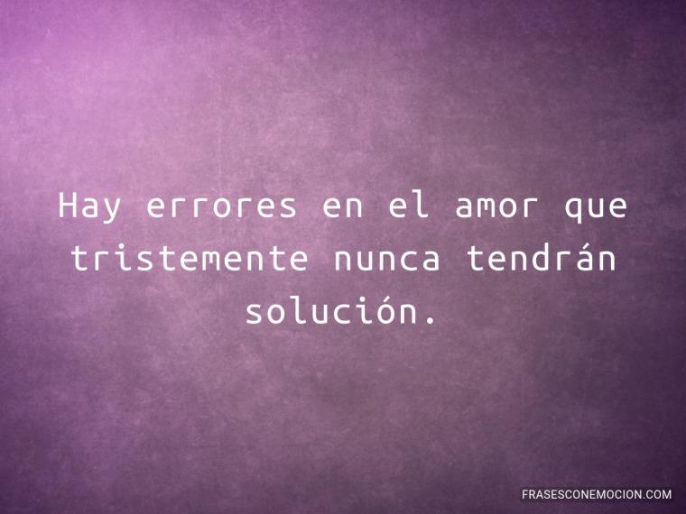 Hay errores en el amor...