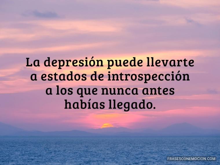 La depresión puede llevarte...
