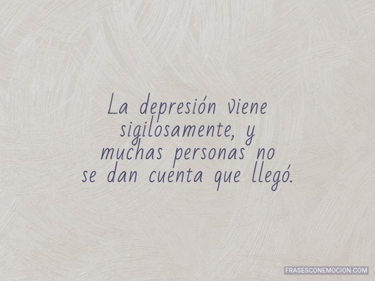 La depresión viene...