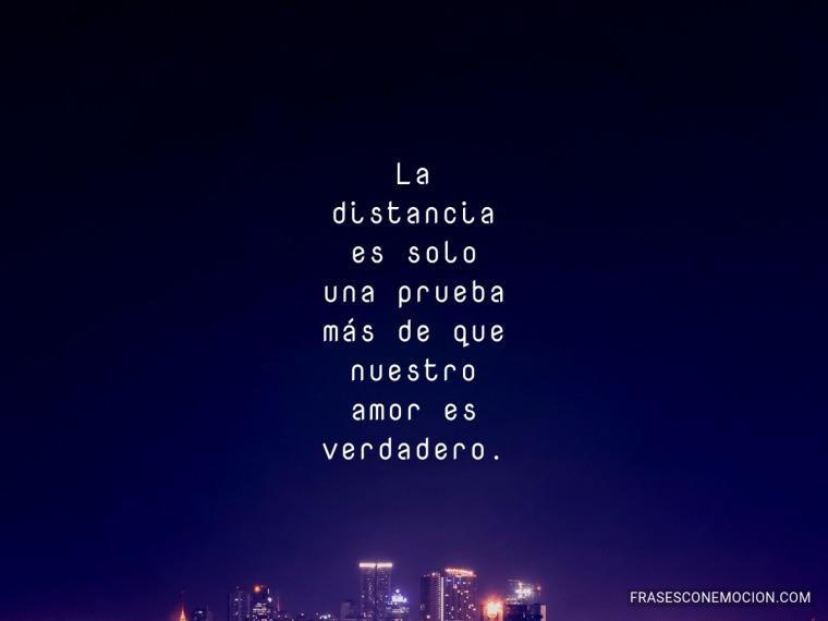 La distancia es solo...