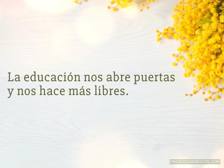 La educación nos abre...