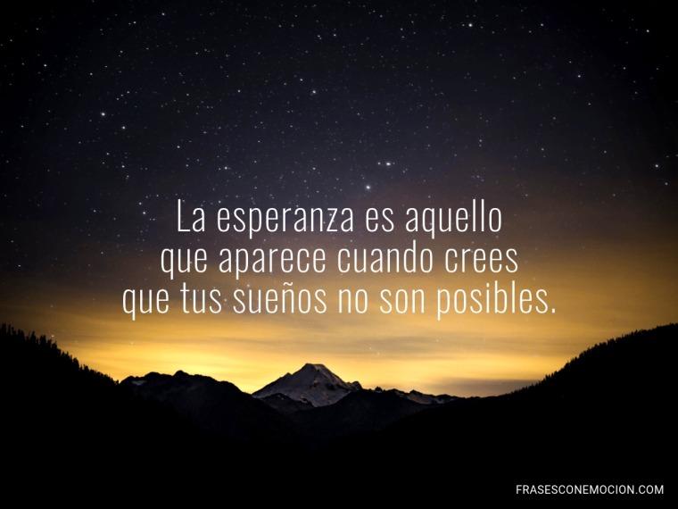 La esperanza es...