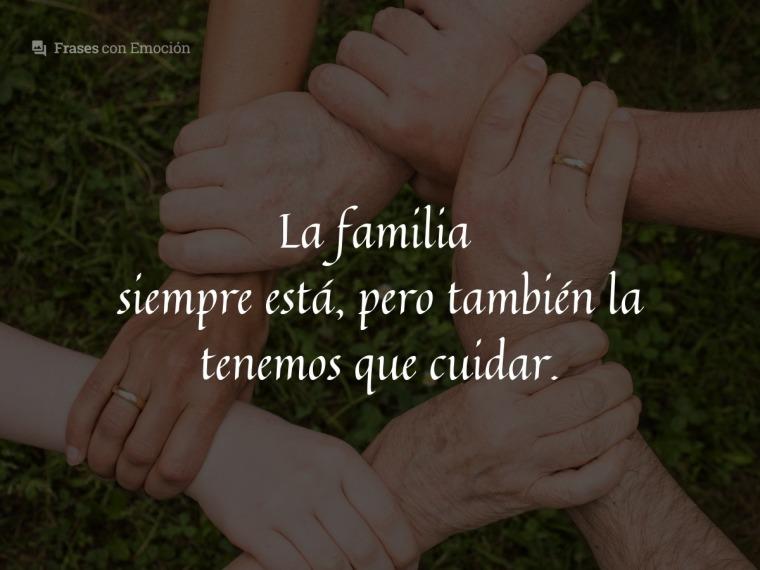 La familia siempre está...
