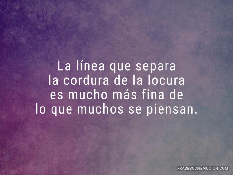 La línea que separa...