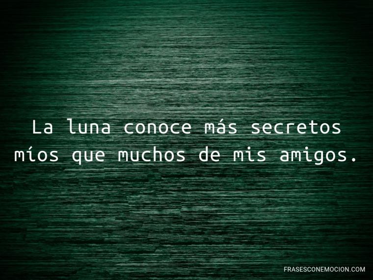 La luna conoce...