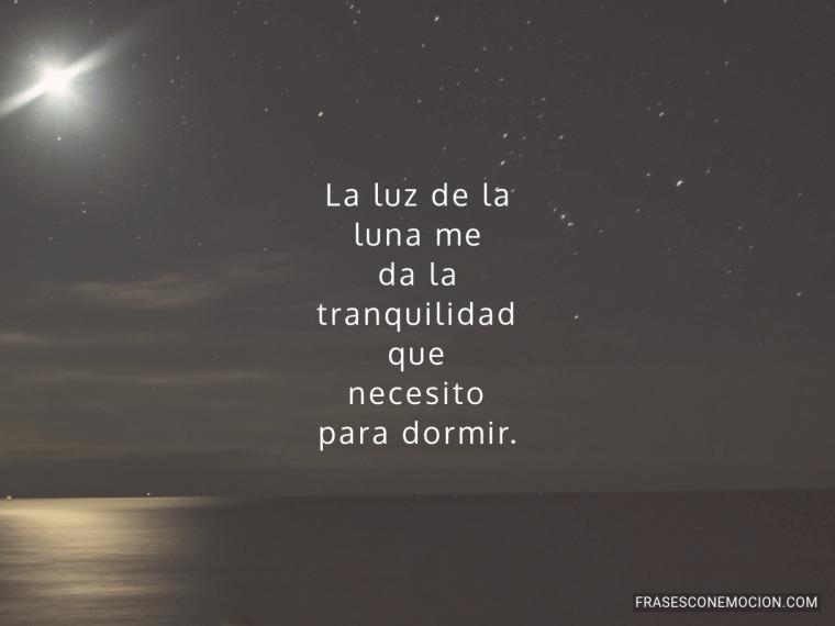La luz de la luna me...