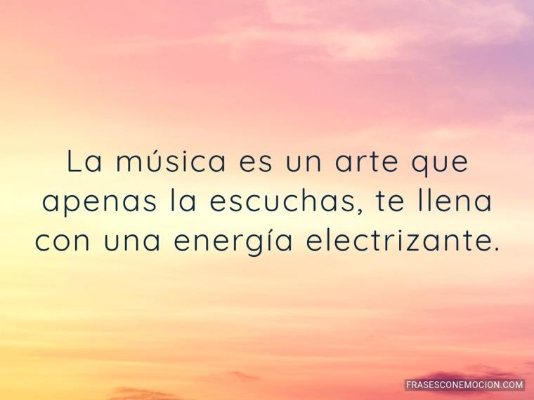 La música es un arte...