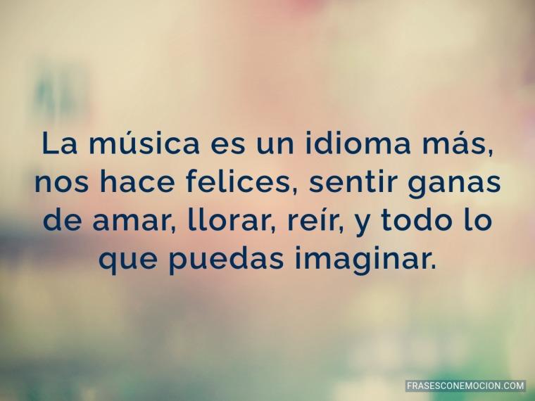 La música es un idioma más...