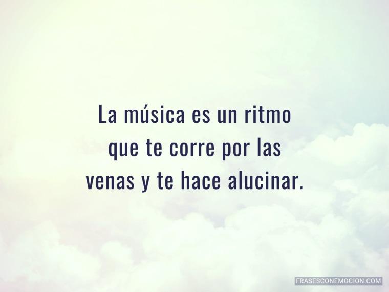 La música es un ritmo...