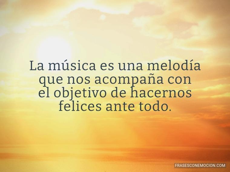 La música es una melodía...