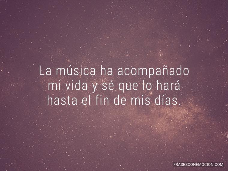 La música ha acompañado...